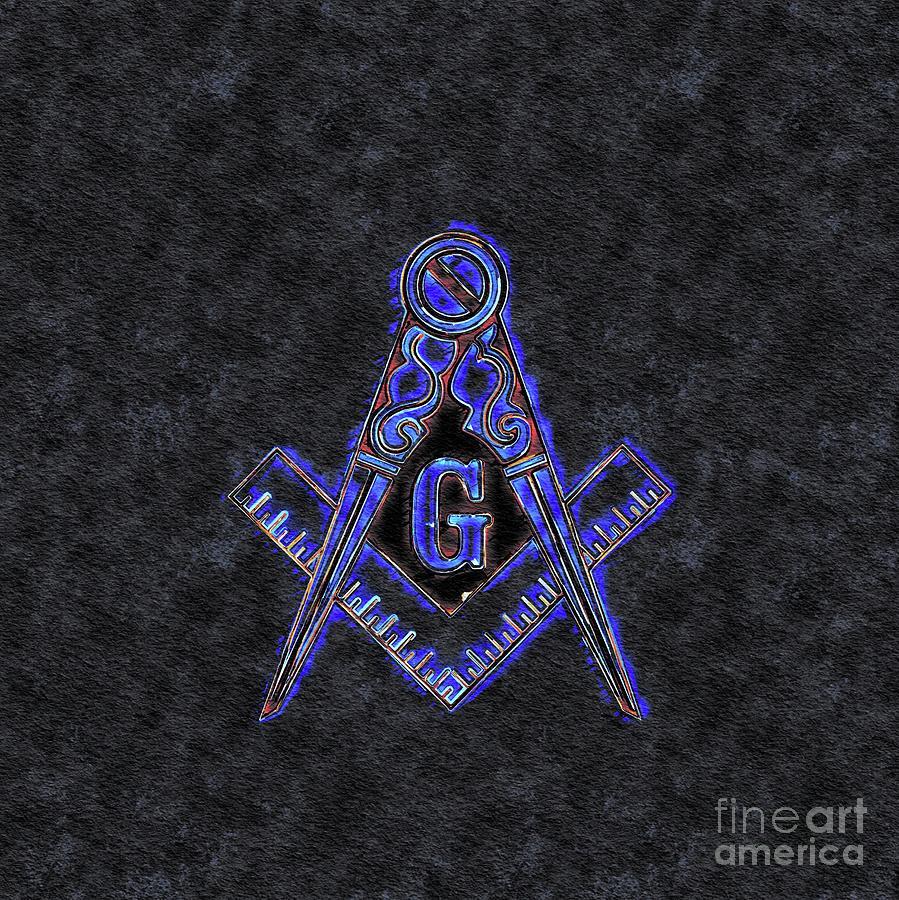 Lodge Painting - Freemason, Mason, Masonic Symbolism by Pierre Blanchard