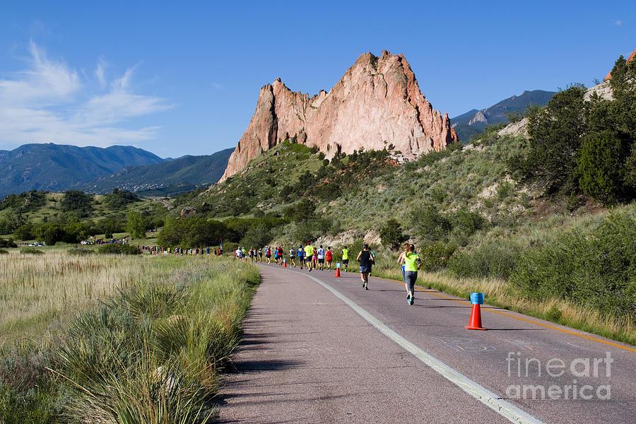 Garden Of The Gods Ten Mile Run In Colorado Springs Photograph