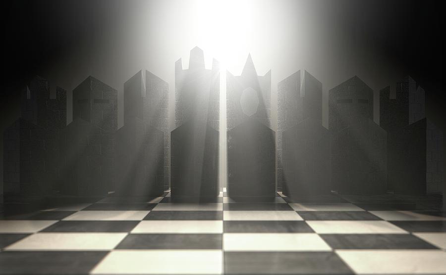 Chess Digital Art - Modern Chess Set  by Allan Swart