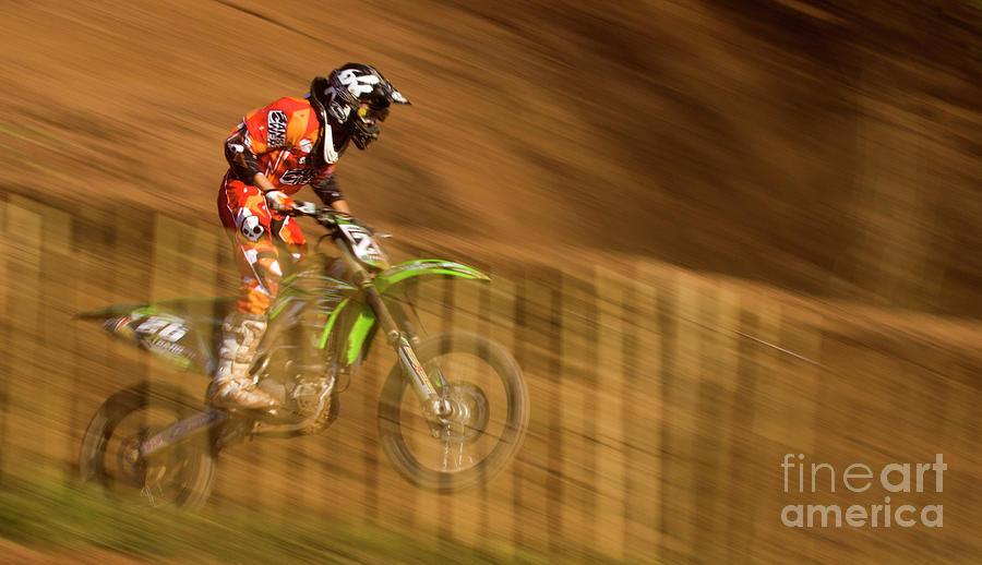 Bike Photograph - Motocross by Angel  Tarantella