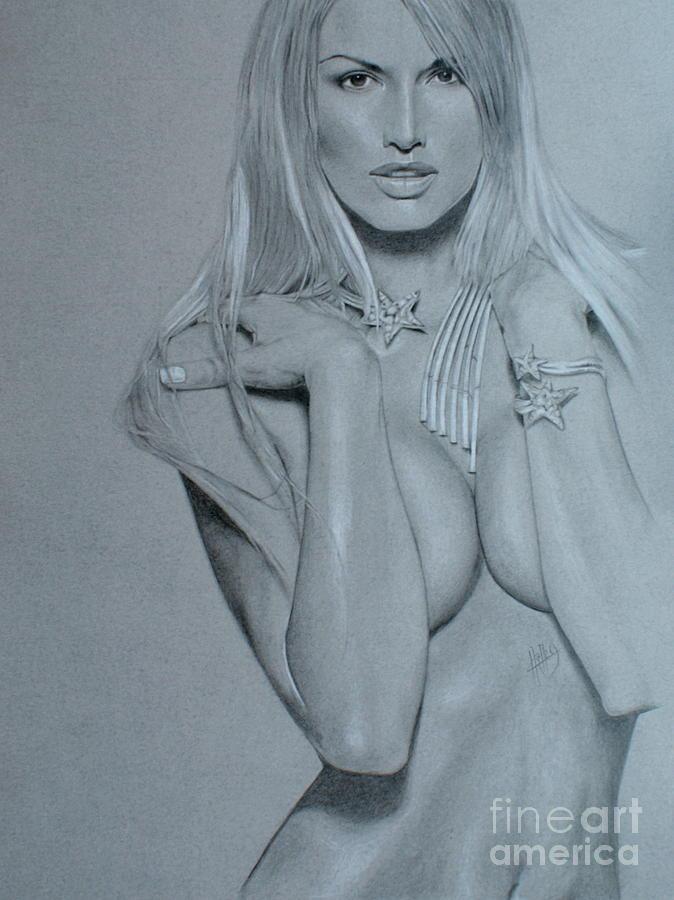 Woman Drawing - No Title by Marek Halko
