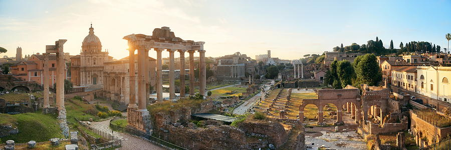 Rome Photograph - Rome Forum  by Songquan Deng