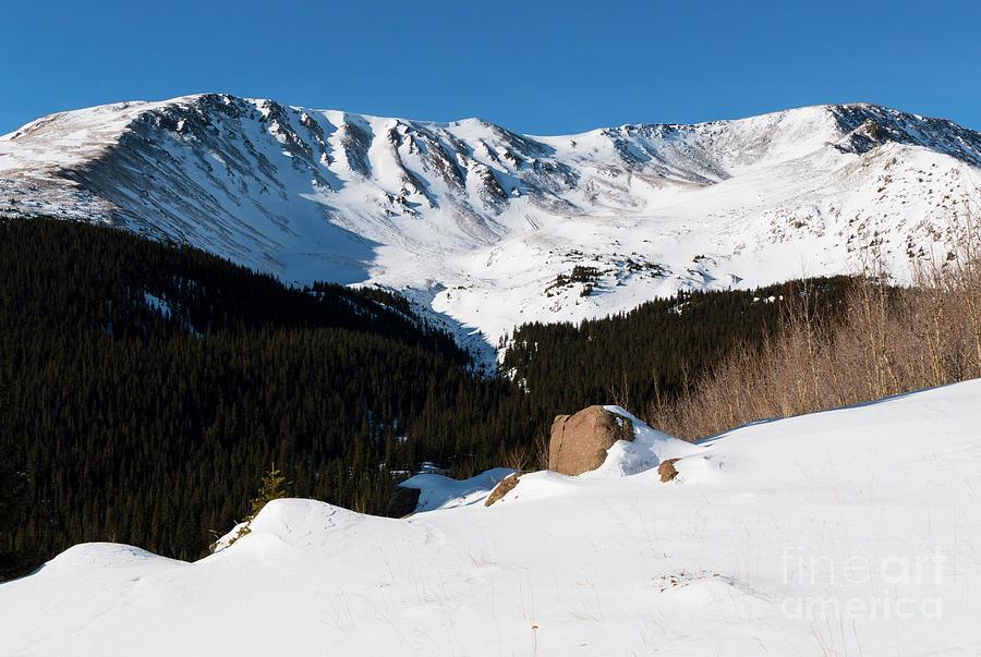 Summit Of Mount Elbert Colorado In Winter Photograph