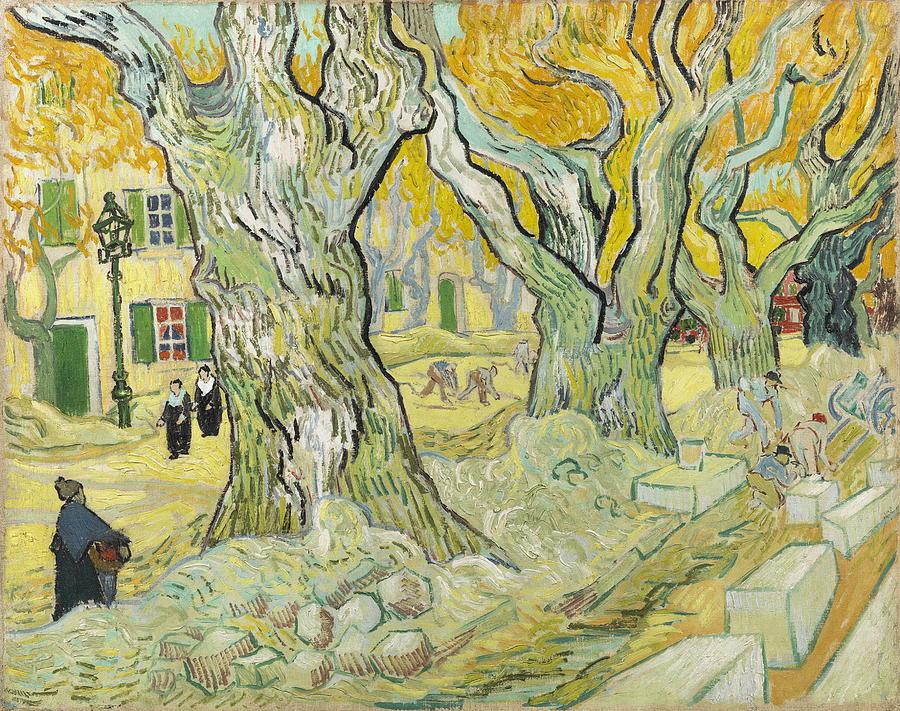 Road Painting - The Road Menders by Vincent van Gogh