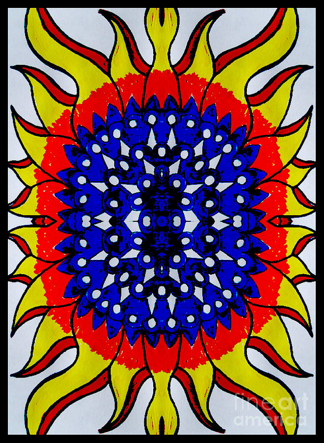 Sunburst Flower Digital Art by Graham Roberts