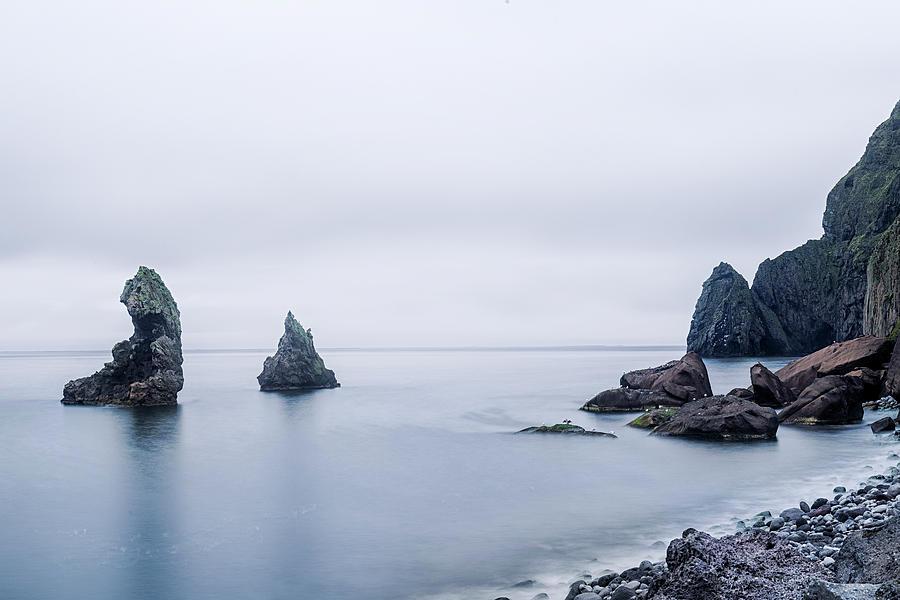 Lava Formation Photograph - Vestmannaeyjar - Iceland by Joana Kruse