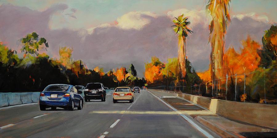 Autumn Painting - 110 North by Richard  Willson