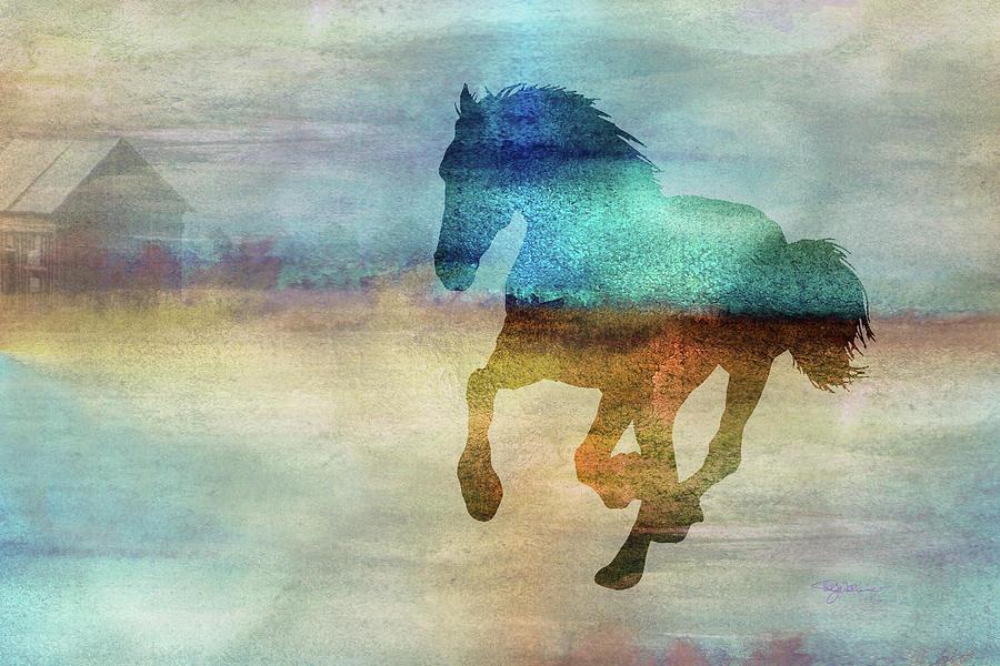 11008 Horse Digital Art