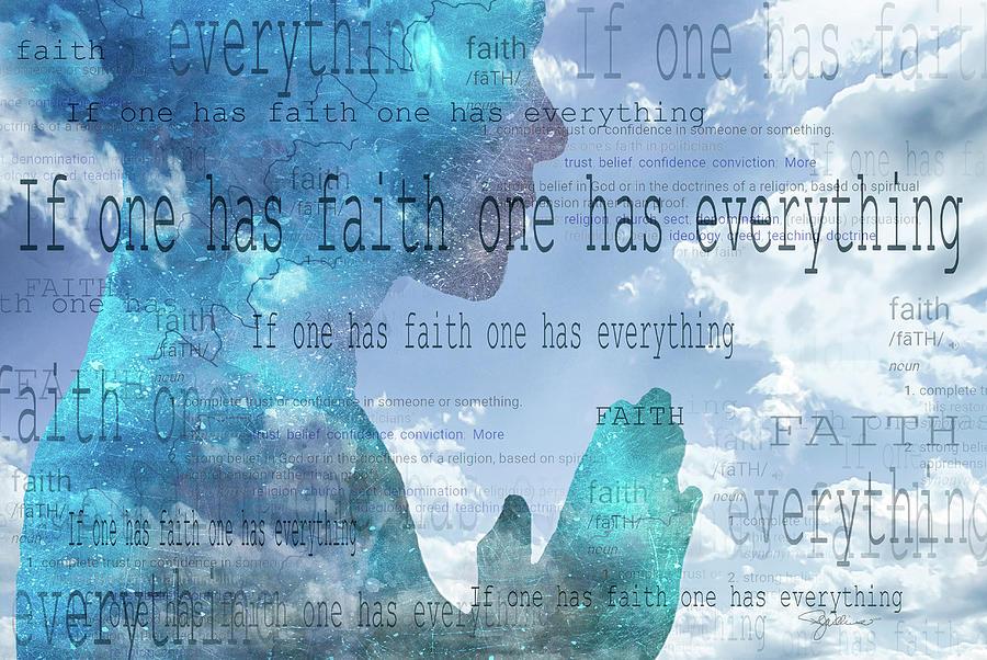 11054 If One Has Faith Photograph