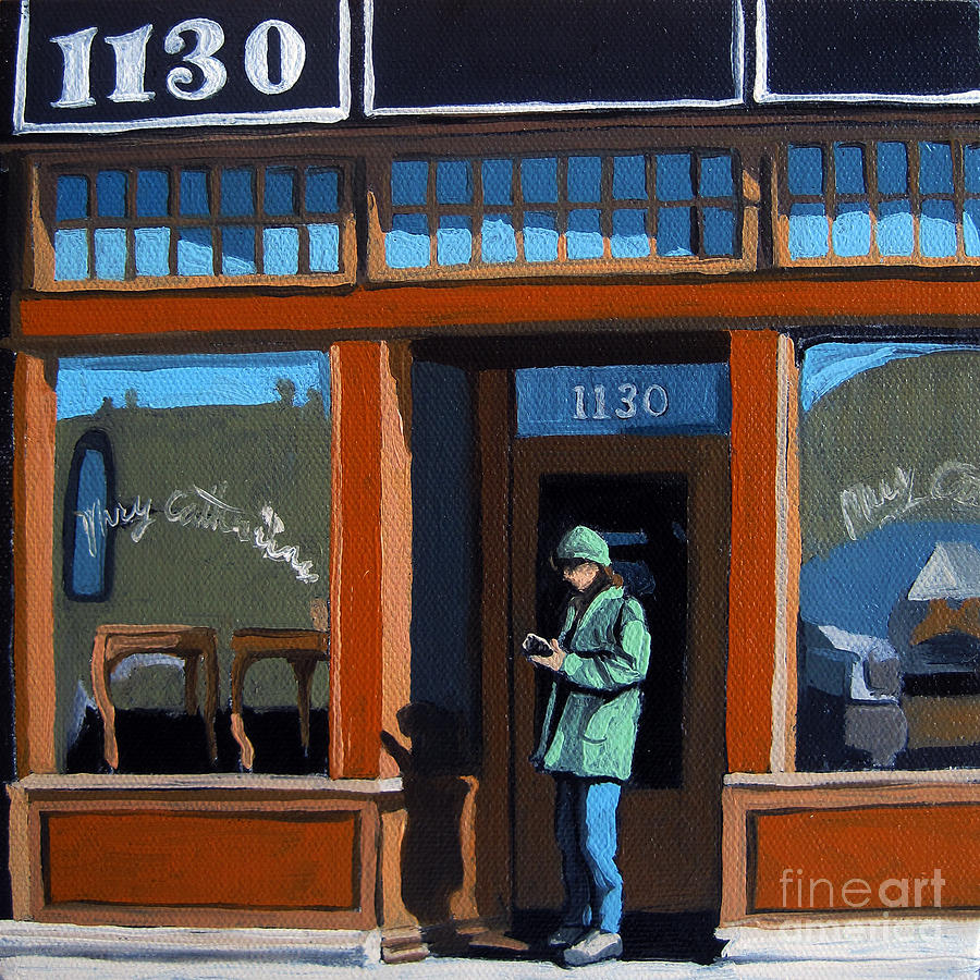 Woman Painting - 1130 High St. by Linda Apple