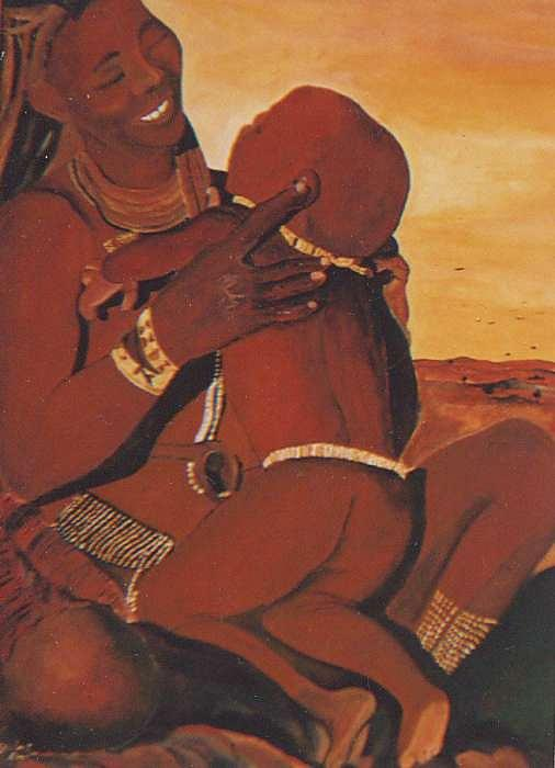 The Himba Mon Painting by Patrick Desenclos