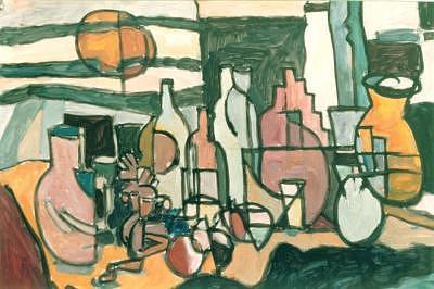 Jar Painting - 11stilllifewithsun by Juan Luis Quintana