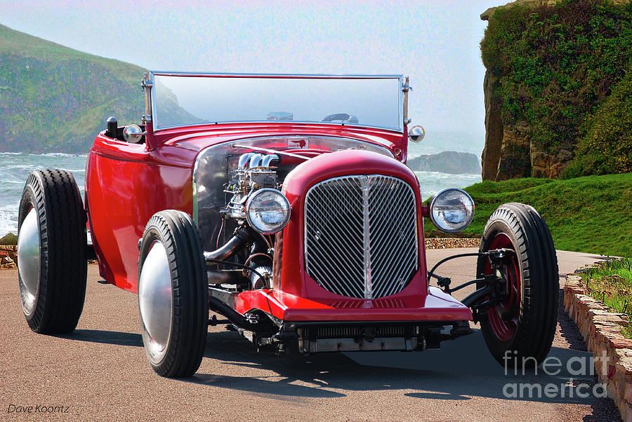 1930 Ford Model A Roadster Photograph