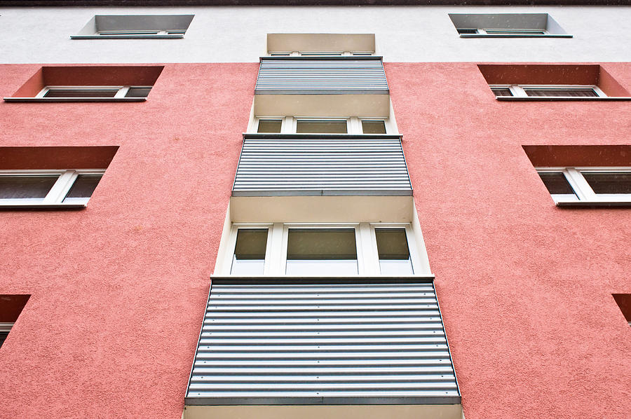 Accommodation Photograph - Apartment Building by Tom Gowanlock