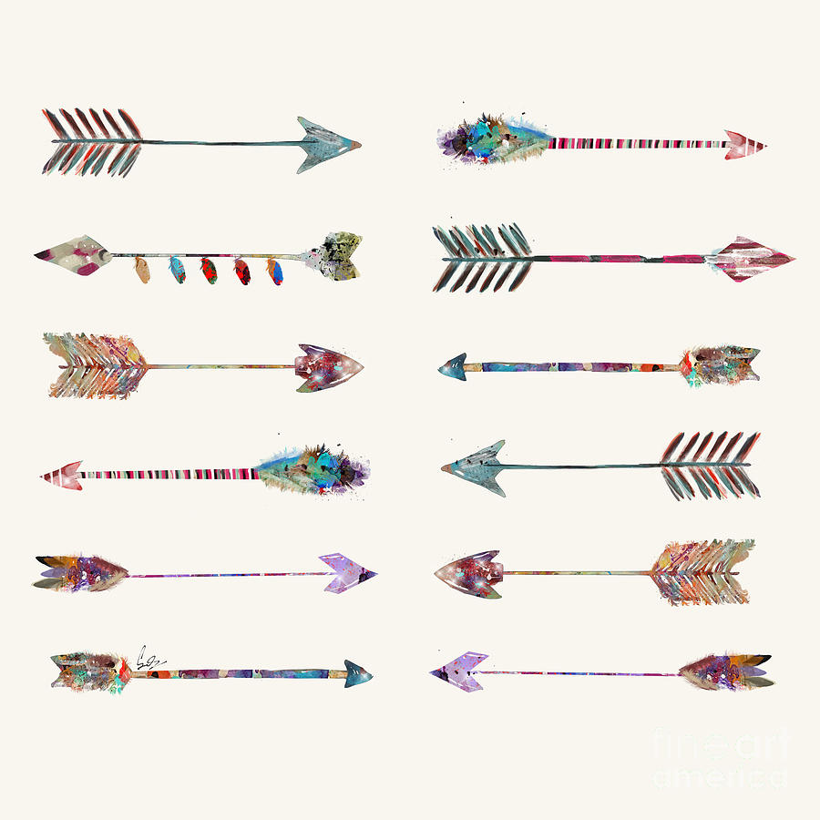 Arrows Painting - 12 Arrows by Bri Buckley