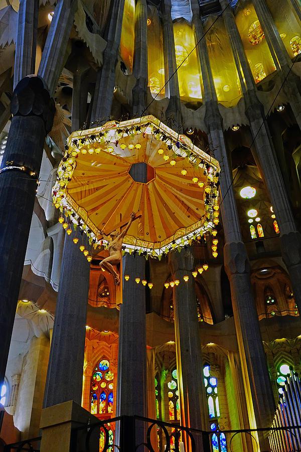 Artistic Achitecture Within The Sagrada Familia In Barcelona Photograph
