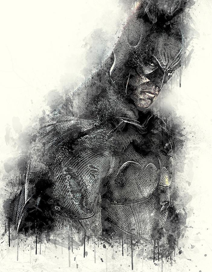 Batman Digital Art - Batman by Anna J Davis