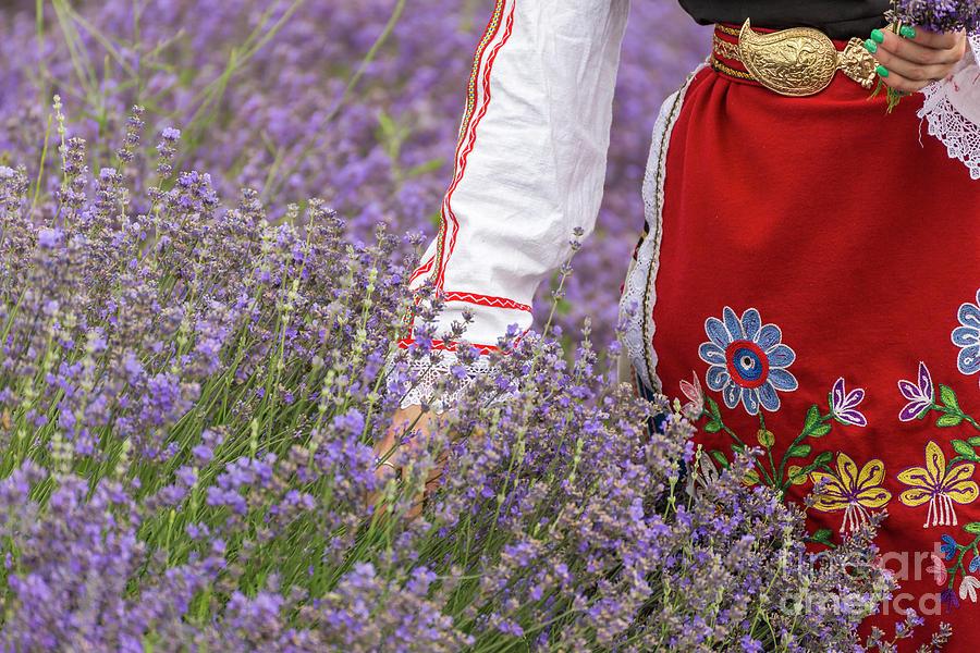 Bulgaria Photograph - Bulgarian Girl In A Lavender Field by Nikolay Stoimenov