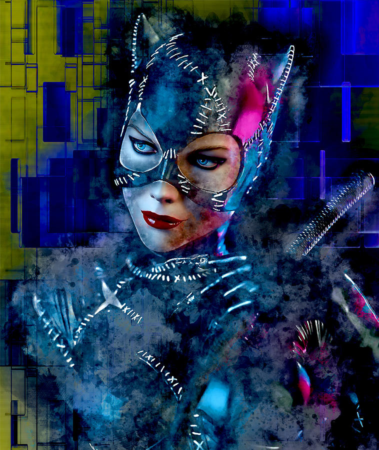 Michelle Pfeiffer Mixed Media - Catwoman by Marvin Blaine