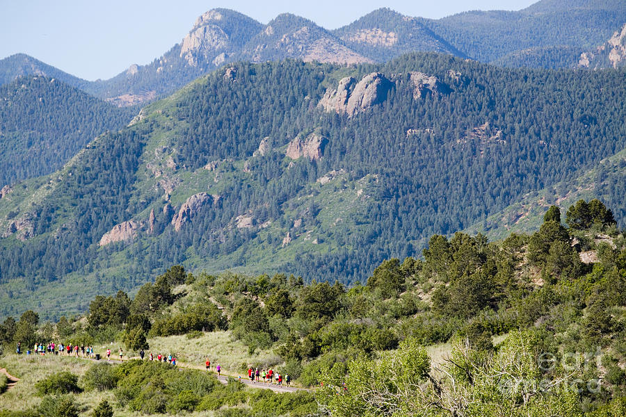 Garden Of The Gods Ten Mile Run In Colorado Springs Photograph