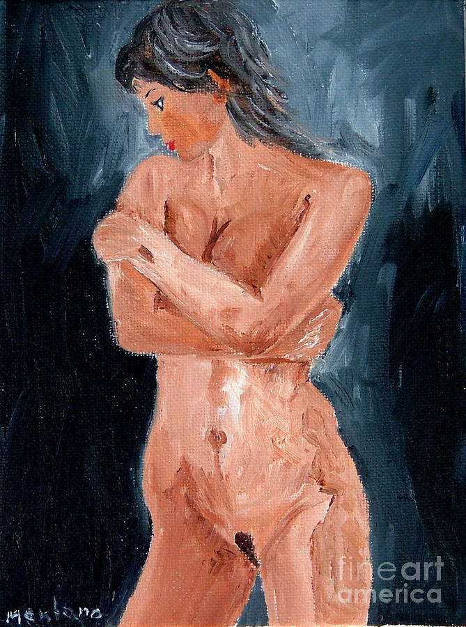 Girl Painting - Girl Nude by Inna Montano