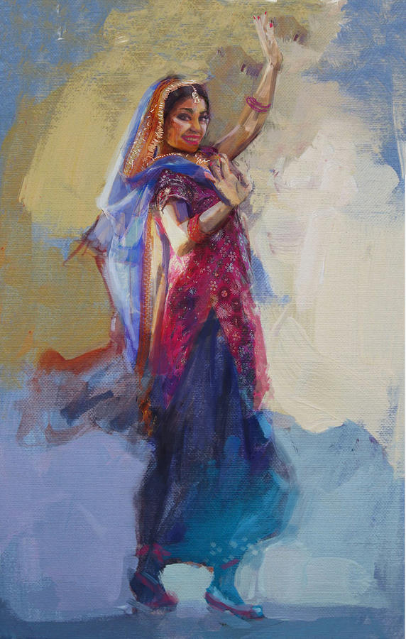 12 pakistan folk punjab painting by maryam mughal