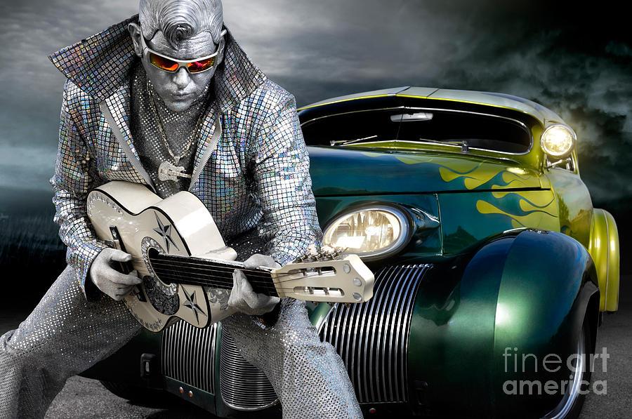 Silver Elvis Photograph - Silver Elvis by Oleksiy Maksymenko
