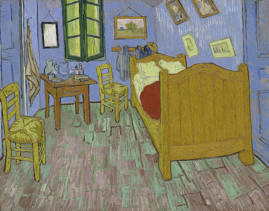 Van Painting - The Bedroom by Vincent Van Gogh