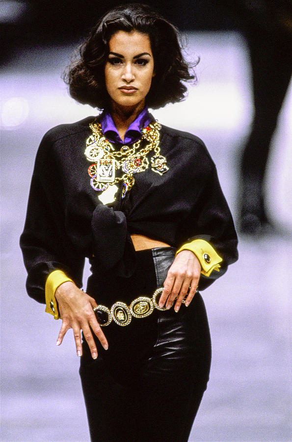 Versace Fall 1991 Rtw Show 12 Photograph by Guy Marineau