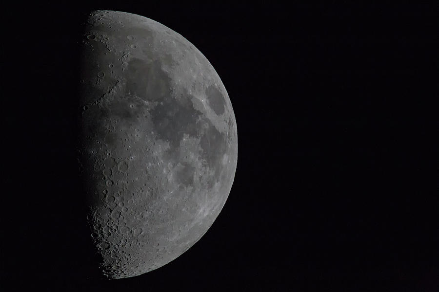 Space Photograph - 1200mm Moon by Digiblocks Photography