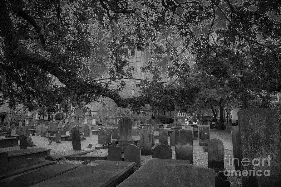 Charleston Haunted Cemetery Photograph