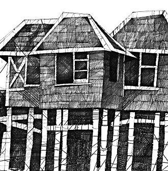 Pen And Ink Drawing - 1233 by Phil Rodriguez