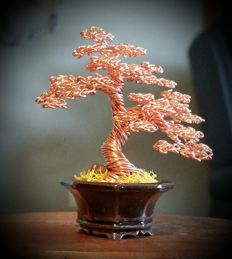 129 Copper Wire Tree Sculpture Sculpture By Ricks Tree Art