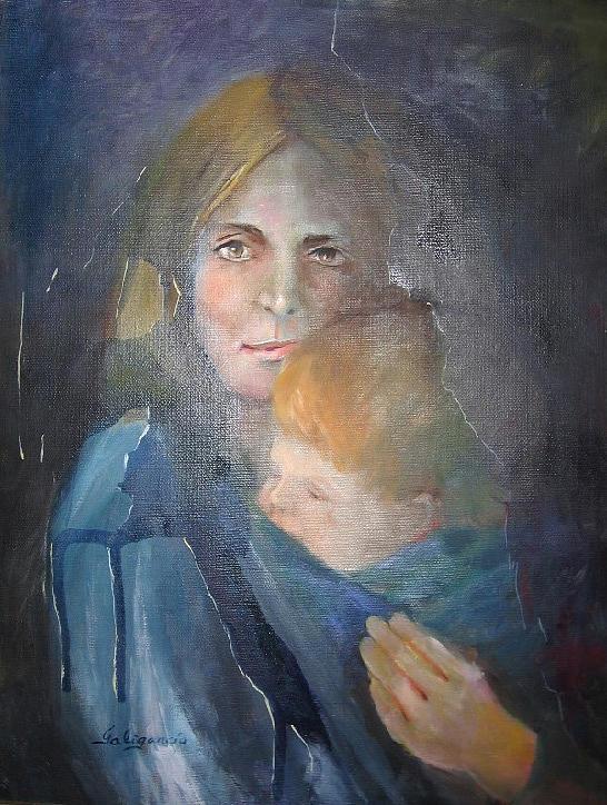 Portrait Painting - 13 De Marzo by Carmen Galigarcia
