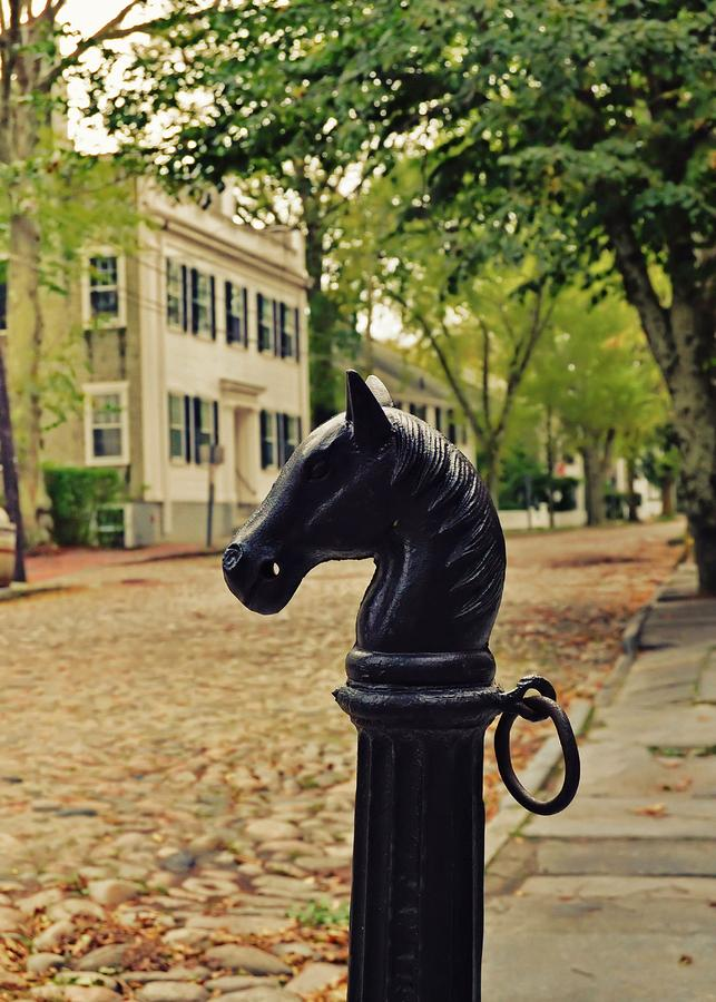Nantucket Photograph - Nantucket Hitching Post by JAMART Photography