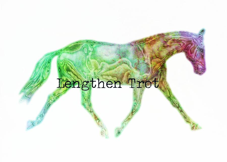 Lengthen Photograph - Lengthen Trot Watercolor Quote by JAMART Photography