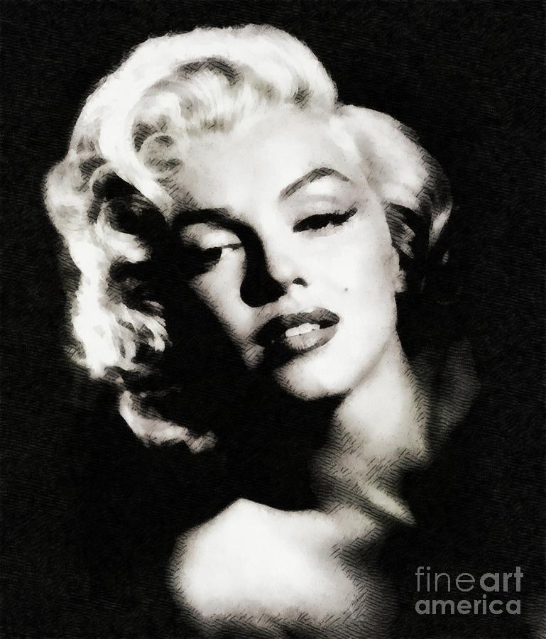 Marilyn Monroe By John Springfield Painting