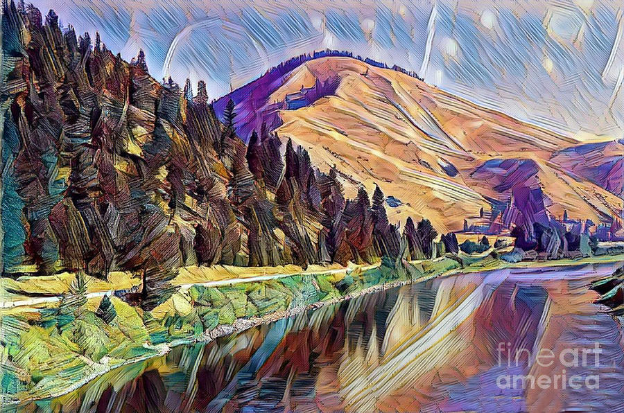DIGITAL PICTURE Mountains in landscape IMAGE