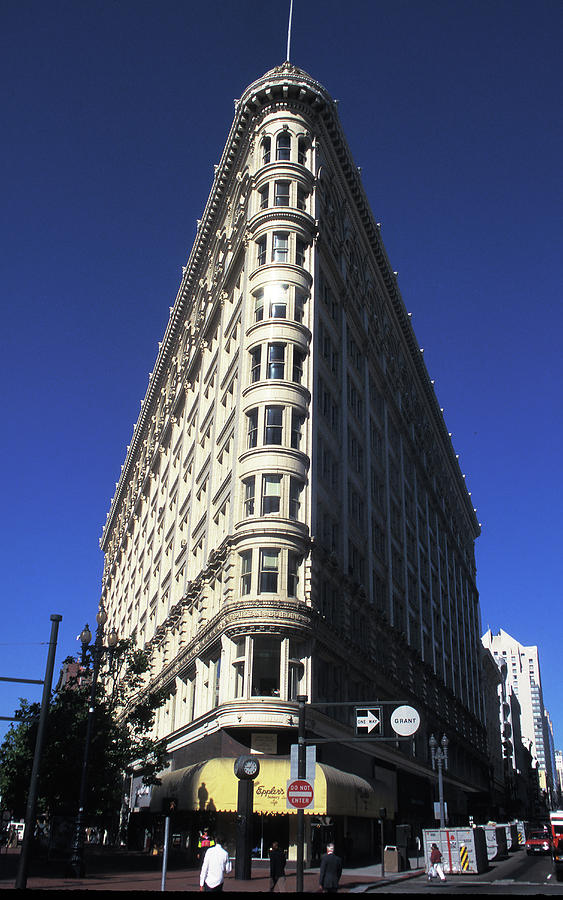 Flatiron Photograph - Phelan Building In San Francisco by Carl Purcell