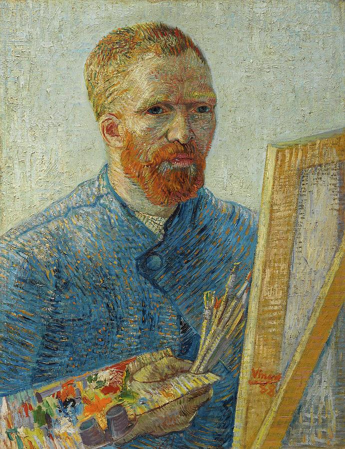 97d03d47b6e Self-portrait With Straw Hat Painting by Vincent van Gogh