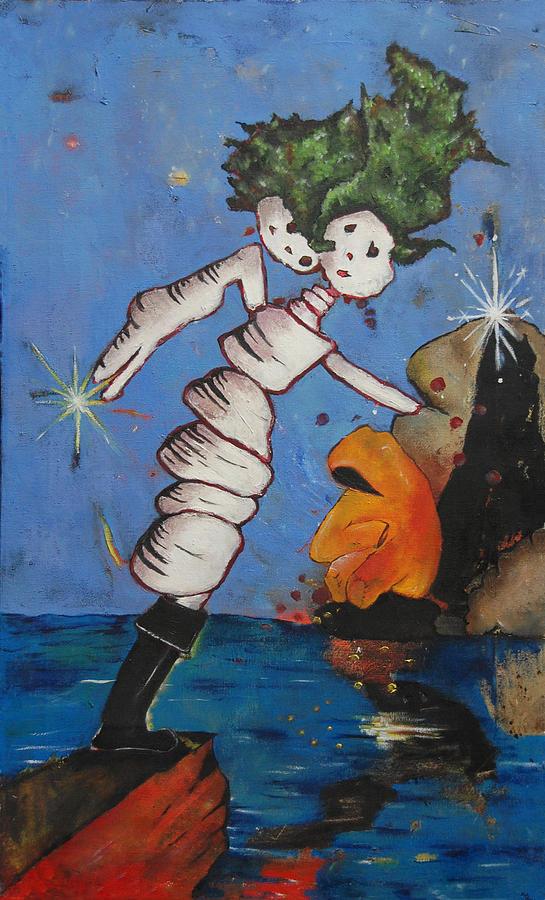 Ocean Painting - Untitled 13 by Abigail Lee Goldberger