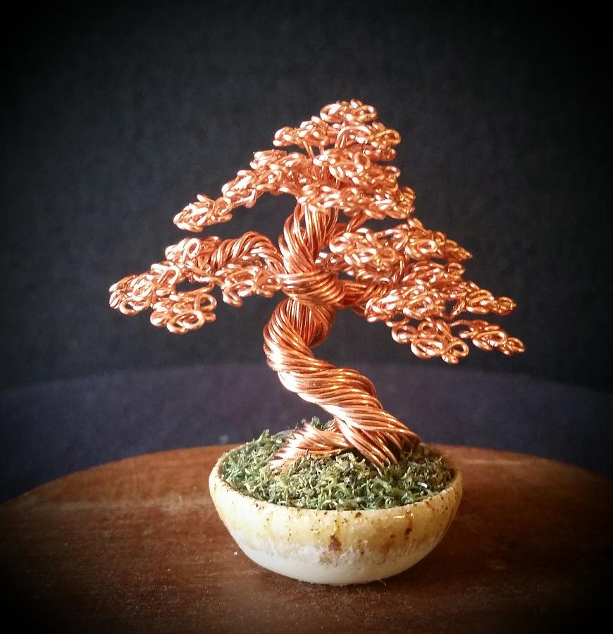 130 Mini Copper Wire Tree Sculpture Sculpture By Ricks Tree Art