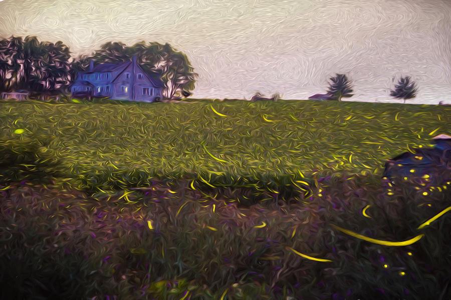 Fireflies Photograph - 1300 - Fireflies Impression Version by Seth Dochter