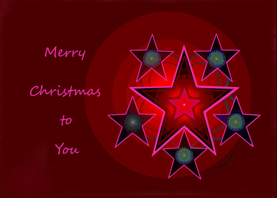 1339 Merry Christmas To You 2018 Digital Art by Irmgard Schoendorf Welch
