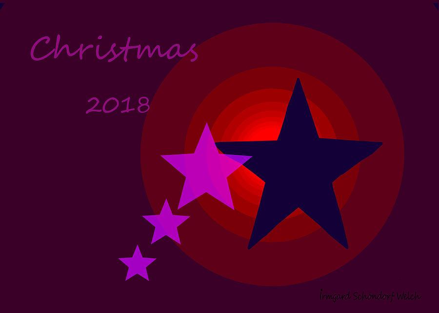 1340 Christmas 2018 Digital Art by Irmgard Schoendorf Welch