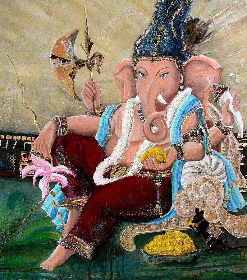 Ganesh Painting - 135 by Devakrishna Marco Giollo