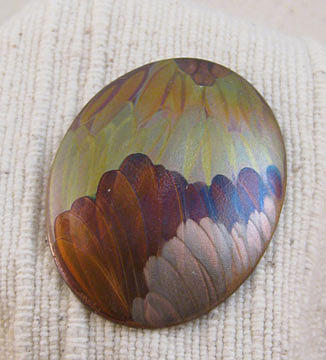 1354 Layered Feathers Pendant by Dianne Brooks