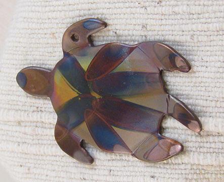 1355 Sea Turtle Harnessed, pendant by Dianne Brooks
