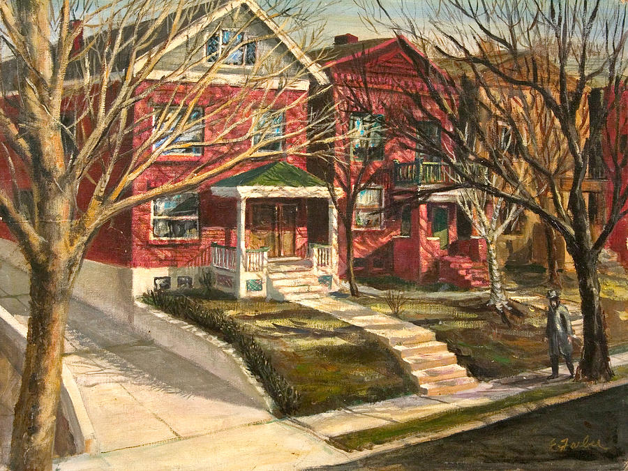 1385 Clara Avenue Painting by Edward Farber
