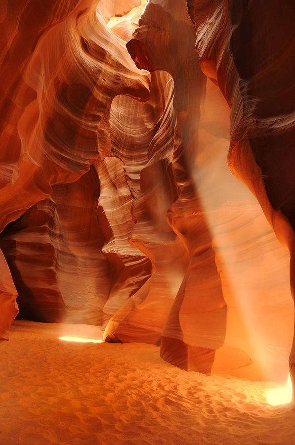 Antelope Photograph - Antelope Canyon by Jacek Joniec